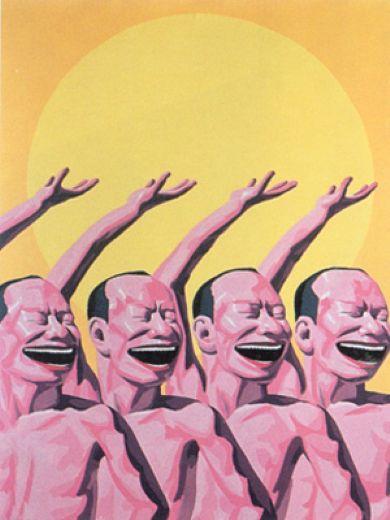 Yue Minjun. The sun painting.