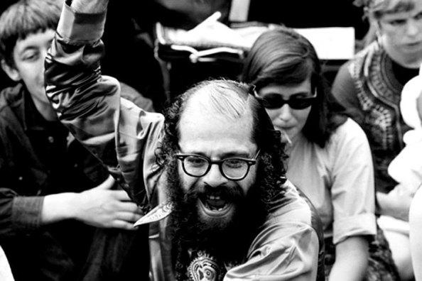 Allen Ginsberg í Hyde Park í 1966.