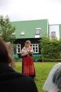 Lív Maria Róadóttir Jæger lesur úr savni sínum Hvít sól á Fløtuni á Háskúlanum.
